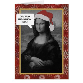 Mona Lisa Christmas Smile Anti Christmas Card