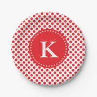 Red Polka Dots Plates | Zazzle