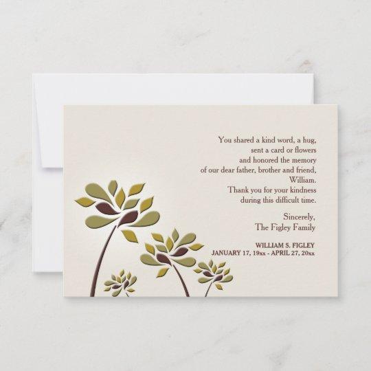 Mournful Sympathy Thank You Card Zazzle