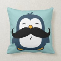 Mustache Penguin Pillows