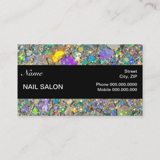 Nail Salon Customer Loyalty Punch Business Card Zazzle