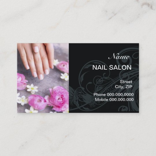 Nail Salon Customer Loyalty Punch Business Card Zazzle