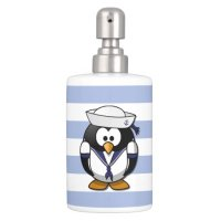 Nautical Penguin Bathroom Set | Zazzle