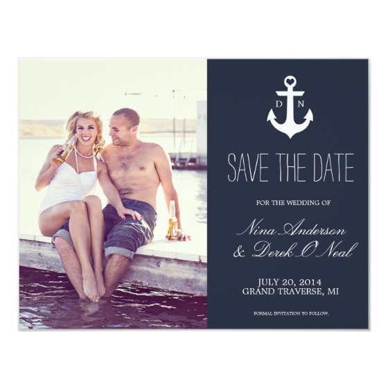Nautical Save The Date | Wedding Card