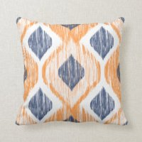 Navy Blue And Orange Pillows - Decorative & Throw Pillows ...