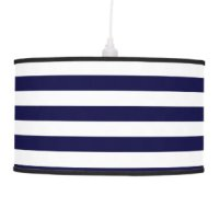 Navy Blue And White Table & Pendant Lamps | Zazzle