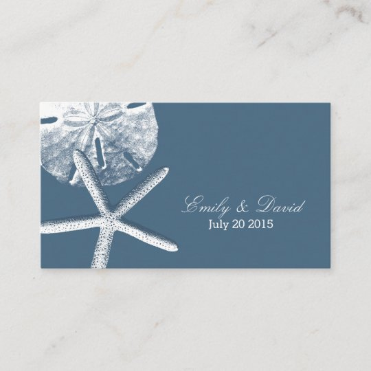 Navy Blue Beach Theme Wedding Website Insert Card Zazzle