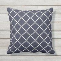 Navy Blue Outdoor Pillows & Cushions | Zazzle