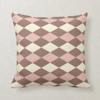 Neapolitan Ice Cream Argyle Pillows