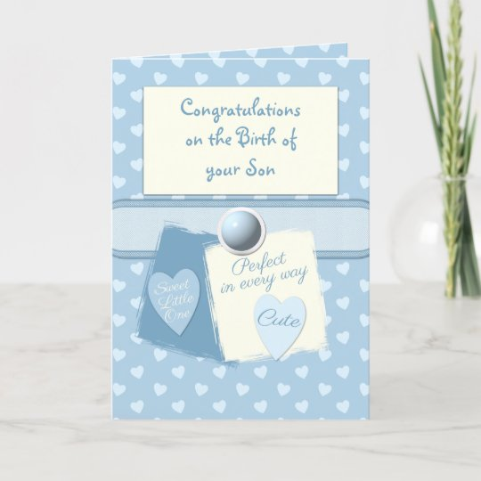 New baby boy congratulations blue card Zazzle
