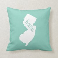 New Jersey Home State Throw Pillow | Zazzle