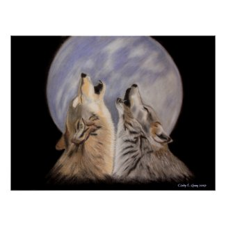 Night Howls (Wolves) Posters