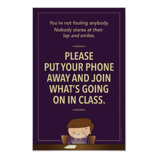 No cell phones in class G-rated Poster Zazzle