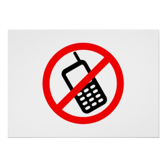 No Cell Phones Poster Zazzle