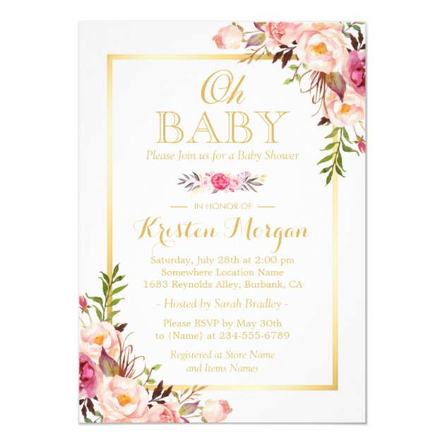 Personalized Elegant baby shower Invitations CustomInvitations4U