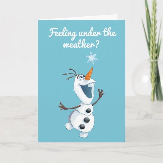 Olaf Blizzard Buddy - Get Well Card Zazzle