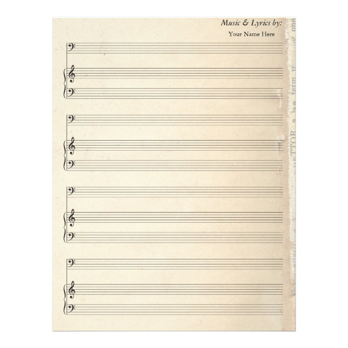Blank Sheet Music Paper Bass Clef