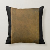 old leather book cover throw pillow | Zazzle