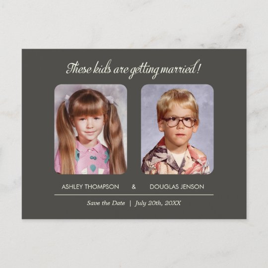 Old Photo Save the Date Postcard Zazzle