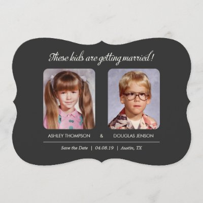 Childhood Photos Save the Date Invitation Zazzle
