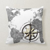 Old World Map Decor Pillow | Zazzle