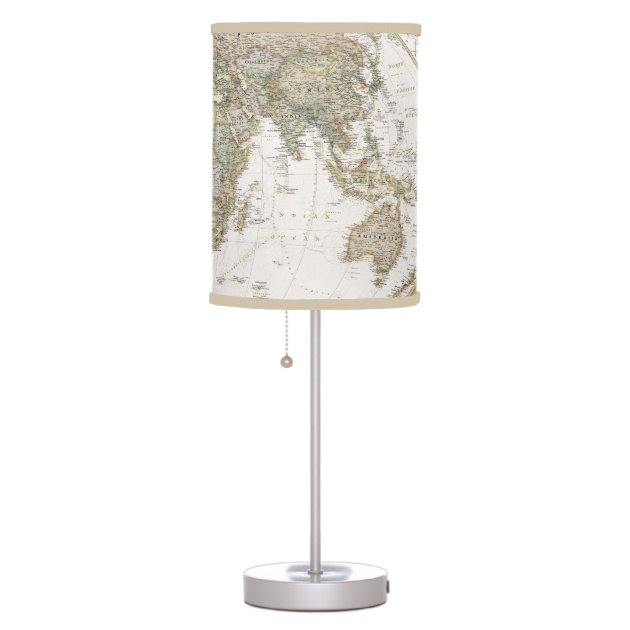 Old World Map Table Lamp