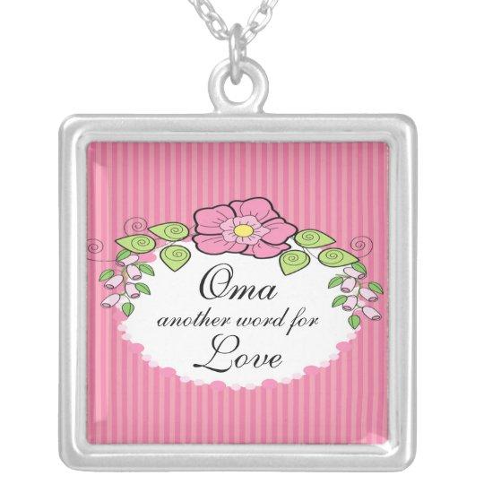 Oma Love Grandparent Necklace Floral Frame Zazzle