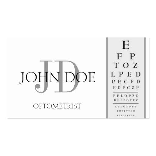 Eye Doctor Business Card Templates - Page2 BizCardStudio - eye chart template