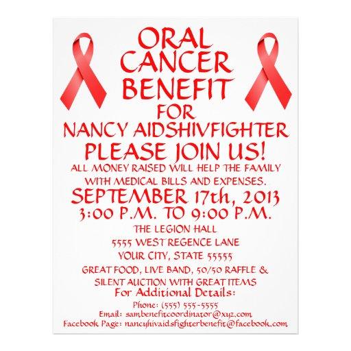 Cancer Benefit Fundraiser Flyer Template