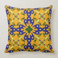Blue And Yellow Pillows - Decorative & Throw Pillows | Zazzle
