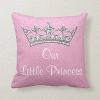 Our Little Princess or Pink Personalized Pillow | Zazzle