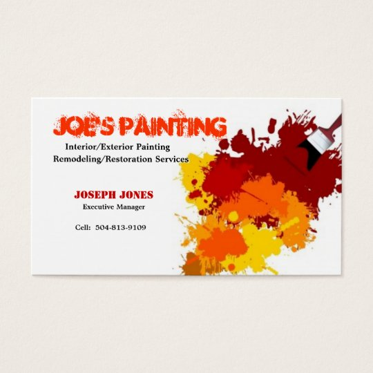 Painting Business Card-Sample II Business Card Zazzle - business card sample