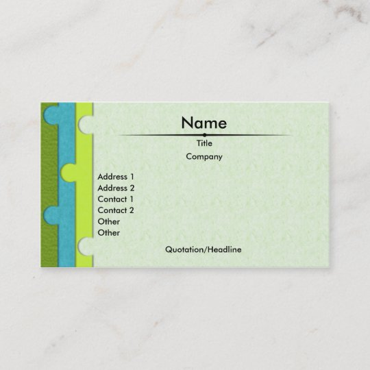 Paper Punch Business Card Zazzle