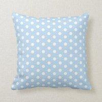 Pastel Blue Polka Dot Pattern Throw Pillow | Zazzle