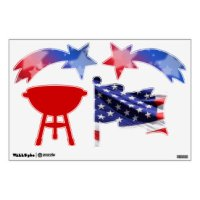 Stars And Stripes Wall Decals & Wall Stickers | Zazzle
