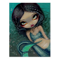 Pearl Swirl Mermaid Postcard