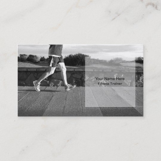 Personal Fitness Trainer Business Card Template Zazzle