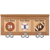 Personalized Coat Rack for Kids NAME and NUMBER | Zazzle