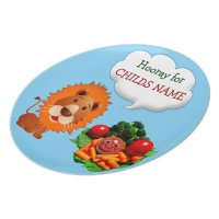 Personalized Dinner Plates for Kids to Eat Veggies | Zazzle