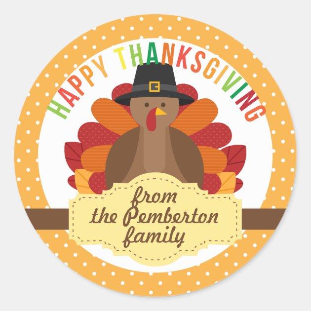 Turkey Wallpaper Cute Personalized Happy Thanksgiving Cute Turkey Classic Round