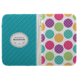 Personalized Polka Dots Caseable Kindle Case Cover