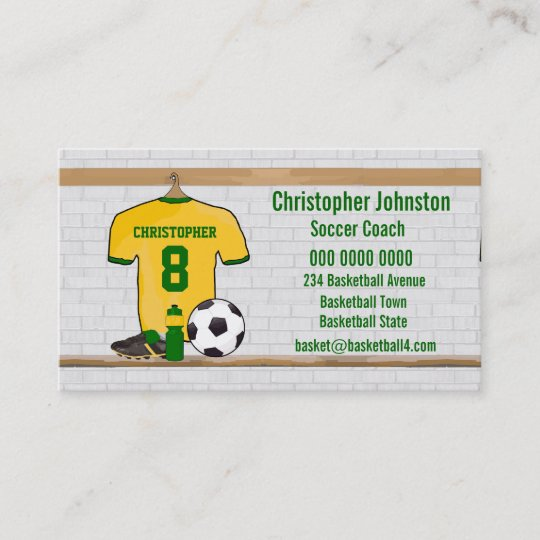 Soccer Coach Business Cards Business Cards 100tennis Coach Business