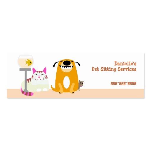 pet business card templates