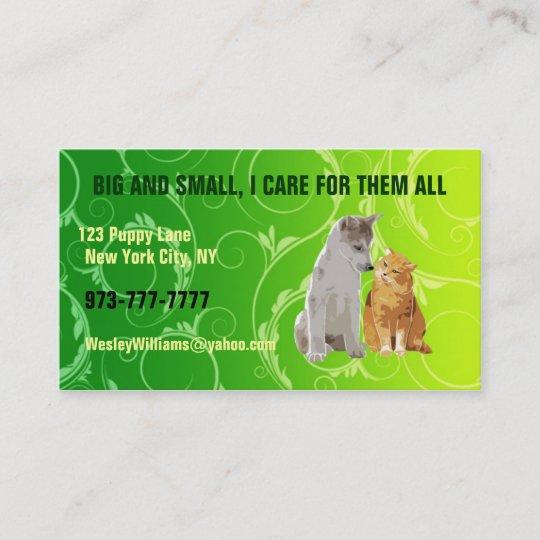 Pet sitter business cards Zazzle