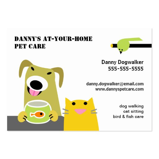 Pet sitter Business Card Templates BizCardStudio