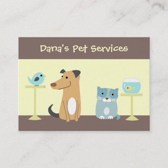 Pet Sitter\u0027s Business Card Zazzle
