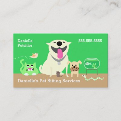 Pet Sitter Dog Day Care Business Business Card Zazzle