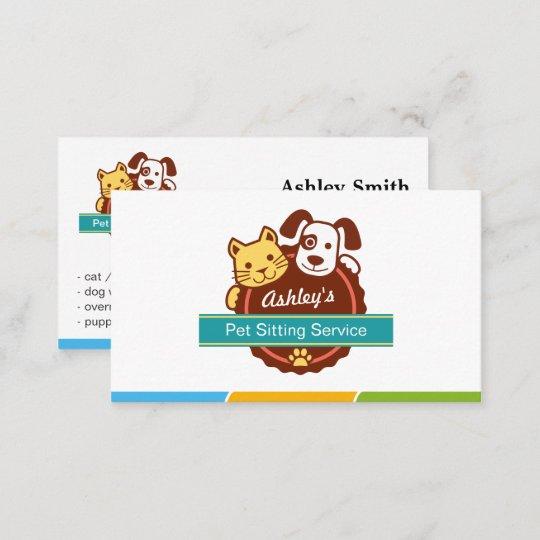 Pet Sitting Service Business Card Zazzle