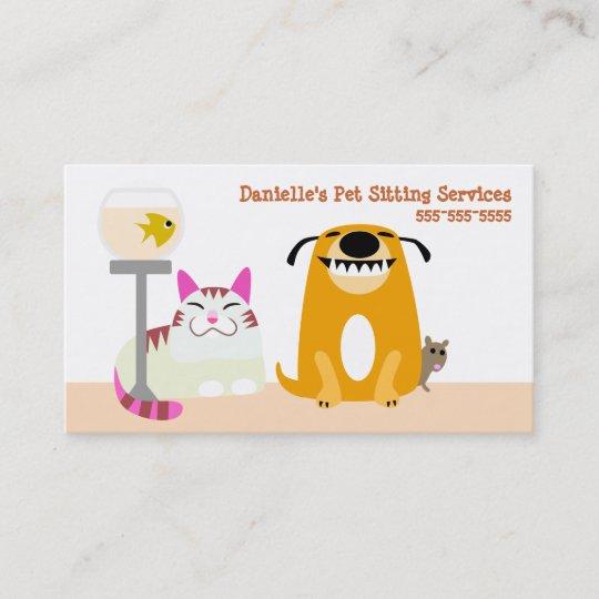Pet Sitting Services Business Card Zazzle