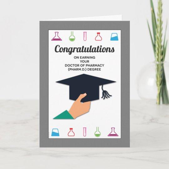 Pharmacy School Graduation Congratulations Card Zazzle